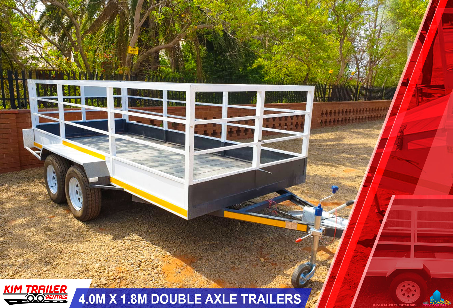 4.0m x 1.8m Double Axle Trailers