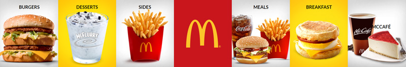 McDonald's CBD Kimberley - Food Categories
