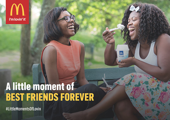 McDonald's North Cape Mall Kimberley - A little moment of best friends forever